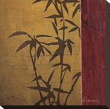 Modern Bamboo II Stretched Canvas Print by Don Li-Leger