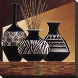 Patterns in Ebony I Reproduction transférée sur toile par Keith Mallett