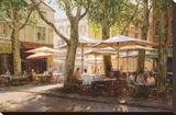 Summer in Provence Stretched Canvas Print by George W. Bates