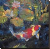 Jardin aquatique I Reproduction sur toile tendue par Leif Ostlund