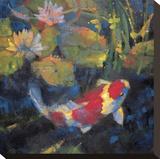 Jardín acuático I Reproducción en lienzo de la lámina por Leif Ostlund