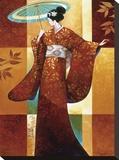 Misaki Reproducción en lienzo de la lámina por Keith Mallett