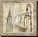 New York Serenade Stretched Canvas Print by Keith Mallett