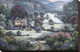 Country Manor Stretched Canvas Print by Dubravko Raos