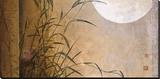 Don Li-Leger - Lakeside Moonrise Reprodukce na plátně