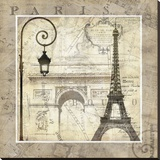 Paris Holiday Stretched Canvas Print by Keith Mallett