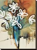 Floral Trance I Stretched Canvas Print by Natasha Barnes