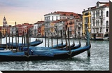 Dawn in Venice Stretched Canvas Print by Janel Pahl