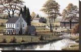 Pâturage d'automne Reproduction transférée sur toile par Bill Saunders