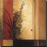 Jardín malva Reproducción en lienzo de la lámina por Don Li-Leger