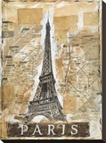 Paris Stretched Canvas Print by Marta G. Wiley