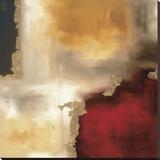 深紅色のアクセントI キャンバスプリント : ローリー・メイトランド