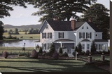 The Country Inn Stretched Canvas Print by Bill Saunders