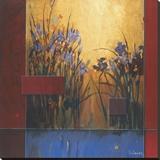 Lirios a la salida del sol Reproducción en lienzo de la lámina por Don Li-Leger