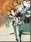 Floral Trance II Stretched Canvas Print by Natasha Barnes