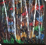Autumn Fireworks Stretched Canvas Print by Graham Forsythe