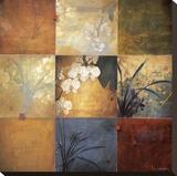 Neuf cases aux orchidées Reproduction transférée sur toile par Don Li-Leger