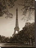 An Afternoon Stroll in Paris II Stretched Canvas Print by Jeff Maihara