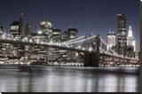 Manhattan Reflections Stretched Canvas Print by Jorge Llovet