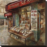 Librairie Paris Stretched Canvas Print by Noemi Martin