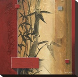 Bamboo Garden Stretched Canvas Print by Don Li-Leger