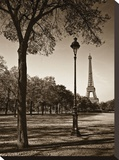 An Afternoon Stroll in Paris I Stretched Canvas Print by Jeff Maihara