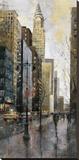 Rainy Day in Manhattan Stretched Canvas Print by Marti Bofarull