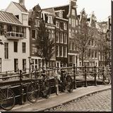 Autumn in Amsterdam I Reproduction transférée sur toile par Jeff Maihara