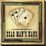 Dead Man's Hand Stretched Canvas Print by Jocelyne Anderson-Tapp
