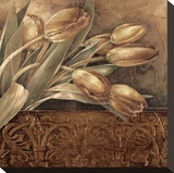 Copper Tulips II Reproduction transf&#233;r&#233;e sur toile par Linda Thompson
