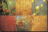 Citrus Garden Reproducción en lienzo de la lámina por Don Li-Leger