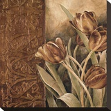 Copper Tulips I Reproduction transf&#233;r&#233;e sur toile par Linda Thompson