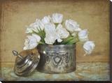 Vintage Tulips II Leinwand von Cristin Atria