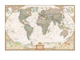 Carte du monde haut de gamme en espagnol Affiches