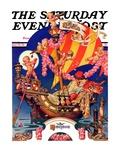 """Fantasy Honeymoon,"" Saturday Evening Post Cover, June 20, 1936 Giclee Print by J.C. Leyendecker"