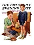 """Growing Boy,"" Saturday Evening Post Cover, September 16, 1939 Giclee Print by Frances Tipton Hunter"