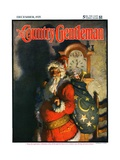 &quot;&#39;Twas the Night before Christmas,&quot; Country Gentleman Cover, December 1, 1925 Reproduction proc&#233;d&#233; gicl&#233;e par Andrew Wyeth