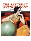 """Woman and Globe,"" Saturday Evening Post Cover, May 12, 1934 Giclee Print by Wladyslaw Benda"