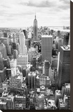 NYC Downtown Stretched Canvas Print by Nina Papiorek