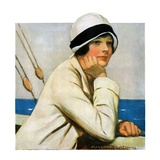 """Daydreams at Sea,""March 20, 1926 Giclee Print by Clarence F. Underwood"