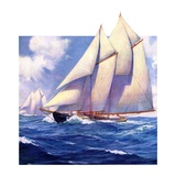 """""""Yachts at Sea,""""May 20, 1933 Giclee Print by Anton Otto Fischer"""