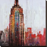 The City That Never Sleeps I Stretched Canvas Print by Markus Haub