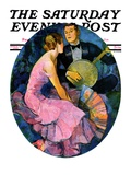 """Banjo Serenade,"" Saturday Evening Post Cover, April 11, 1931 Giclee Print by John LaGatta"