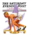 """Eleventh Olympiad,"" Saturday Evening Post Cover, August 8, 1936 Giclee Print by J.F. Kernan"