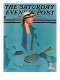 """Tennis in Blue,"" Saturday Evening Post Cover, June 16, 1934 Giclee Print by Penrhyn Stanlaws"
