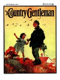 """Geese Flying South,"" Country Gentleman Cover, October 1, 1925 Giclee Print by William Meade Prince"