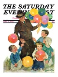 """Balloonman,"" Saturday Evening Post Cover, May 9, 1931 Giclee Print by Ellen Pyle"