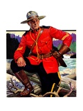 """Canadian Mountie,""March 25, 1933 Reproduction procédé giclée par Edgar Franklin Wittmack"