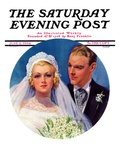 """Bridal Couple,"" Saturday Evening Post Cover, June 2, 1934 Giclee Print by Bradshaw Crandall"