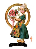 """Easter Dutch Girl,""April 3, 1926 Giclee Print by Joseph Christian Leyendecker"